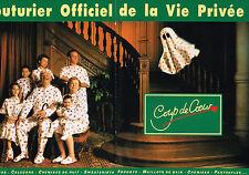 PUBLICITE ADVERTISING 114  1992  COUP DE COEUR  pyjamas  robe de nuit ( 2p)