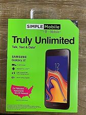 Simple Mobile Samsung Galaxy J2 Prepaid Smartphone, NEW/SEALED