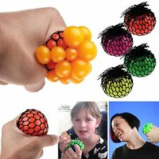 1x Creative Squishy Mesh Net Fruity Ball Grape Squeeze Relax Stress Reliever Toy