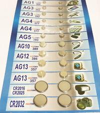 Paquet de 24 Piles Bouton Assorties 9 Références AG1-13 CR2016 CR2025 CR2032