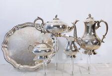 SILBER Kaffee-/Tee-Set mit Tablett 5-tlg. E.P.N.S  ENGLAND um 1940 SILVER PLATED