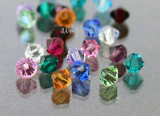 Birthstone Collection Genuine Swarovski Crystal Bicone Beads 4mm 24 Pcs