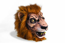 Deluxe Lion Adult Mens Wild Animal Scary Full Face Fur Mask