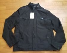 Mens Cole Haan Jacket  Black Size M Packable Rain Jacket Gray Camo Lining NEW