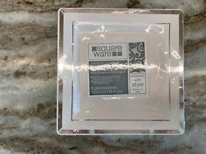 White silver Square Plastic Dessert Appetizer Plates Wedding Party Disposable