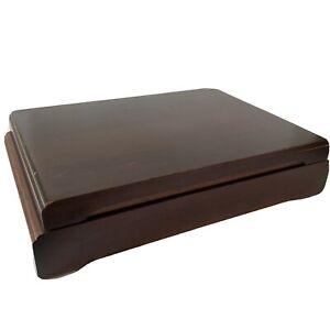 Vtg Art Deco Oneida Wooden Flatware Storage Case Box Nobility Plate Silverware