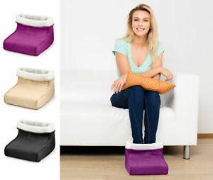 Electric Foot Warmer and Massager Soothing Relaxing Hot Feet Massage Faux Fur*