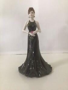 "Coalport Figurine "" STUNNING IN BLACK"" In Origial Box - England - 22cms"