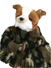 Camouflage Green, Fuzee Fleece Dog Blankets, Soft Pet Blanket Throw