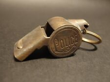 Antique Vintage Style Brass Police Whistle