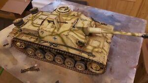 heng long 1/16 stug iii  rc model tank custom painted