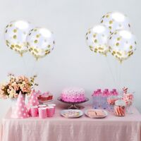 10pcs New Gold silver Confetti Wedding Ballon Happy Birthday Balloon Baby S W1N4