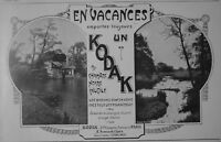 PUBLICITÉ DE PRESSE 1911 EN VACANCES EMPORTEZ TOUJOURS UN KODAK