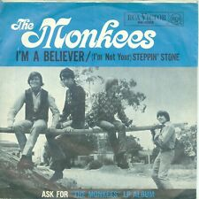 "THE MONKEES - I'M A BELIEVER / STEPPIN'STONE ( GERMAN RCA 66-1002) 7""PS 1966"
