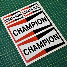 Champion Vintage Retro Sticker set - 4x stickers - Oil and Gas