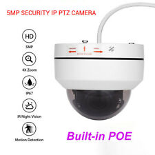 5MP Mini PoE IP PTZ Dome Camera 4X Optical zoom 2.8-12mm IP66 CCTV Cam Outdoor
