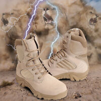 Outdoor Men Leather Tactical Boots Military Combat Army Desert SWAT Shoes Hiking