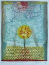 "RENE CARCAN ""L' arbre soleil"" The sun tree HAND SIGNED Etching Belgium Artist"