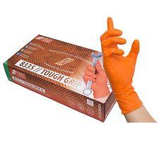 Tough Grip Nitril Handschuhe, orange, Größe L (50 Stk.)