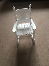 Childrens white wooden rocking chair