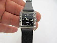 Wittnauer Watch  17 Jewels 9E1 10K Gold White  filled Diamonds Vintage Working
