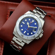 40mm blue dial automatic mechanical men's watch ceramic bezel 97