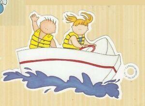MY MIND'S EYE FRAME UPS DIE CUT MAKING WAVES ~ BOATING BOYS GIRLS WATER FUN
