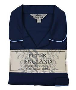 Peter England Plain Navy Blue Pyjama