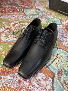 Mens Black Dress Shoes New Size 14