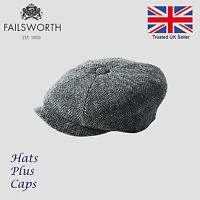 Failsworth Grey Carloway Harris Tweed Newsboy Peaky Blinders Flat Gatsby Cap