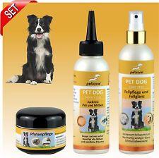 Juckreizmittel  für Hunde bei Pilz und Milbenbefall - Set mit Fell,Pfotenpflege