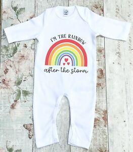 I am the Rainbow after the Storm Rainbow baby Newborn Baby Romper Sleepsuit body