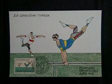 SEOUL OLYMPICS 1988 CANCEL AND STAMP GYMNASTICS