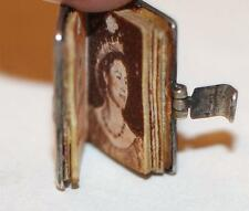 Rare Vintage Sterling Silver Bracelet Charm Opening English Coronation Book 1953