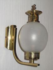 Wunderschöne Ein Paar Antik Messing-Glas Wandlampen 26 cm Hoch