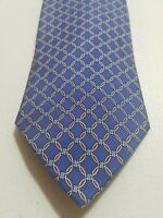 "Brooks Brothers 346 Mens Blue Geometric Silk Tie 57""L"