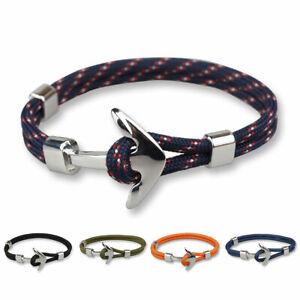 Bracelet pour homme avec corde et ancre marine Malaga