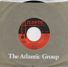 AC/DC  Back In Black / What Do You Do For Money Honey  rare 45 from 1980