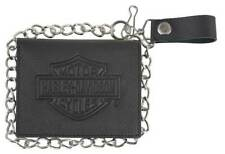 Harley-Davidson Men's Embossed B&S Trucker Bi-Fold Short Wallet XML3539-BLK
