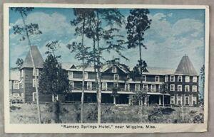 Antique Postcard Ramsey Springs Hotel near Wiggins Mississippi