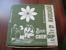 "Vintage Lyric Green Glass Chip and Dip Bowl ""Hazelware Avocado color"