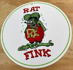 """Rat Fink Aluminum Metal Sign 12"""""""