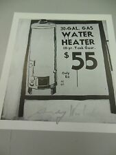 """ANDY WARHOL HAND SIGNED  PRINT IN SILVER PEN """"WATER HEATER""""  1986 WITH COA"""