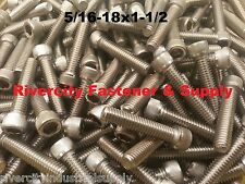 (5) 5/16-18x1-1/2 Socket Allen Head Cap Screw Stainless Steel .3125 x 1.50