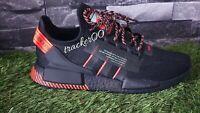 Adidas Originals NMD R1 V2 Men's Trainers Running  Black Solar Red Uk 8.5