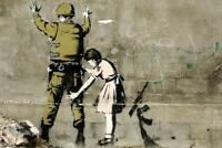 Banksy Girl and a Soldier Graffiti Art Print Poster 24x36 inch
