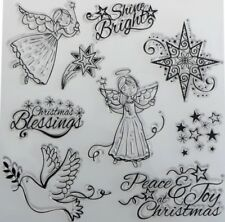 NEW Shine Bright Angel Clear Christmas Stamp Set - contains 9 stamps