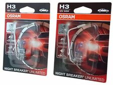 H3 OSRAM NIGHT BREAKER ® Unlimited 2 unidades, 12v 55w 64151nbu-01b