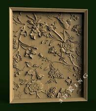 3D STL Model FLOWERS PATTERN 46 for CNC Router Carving Aspire Artcam 3D Printer