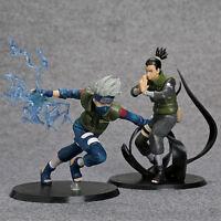 Anime Naruto 2pcs 16cm Nara Shikamaru / Hatake Kakashi PVC action Figures Toys
